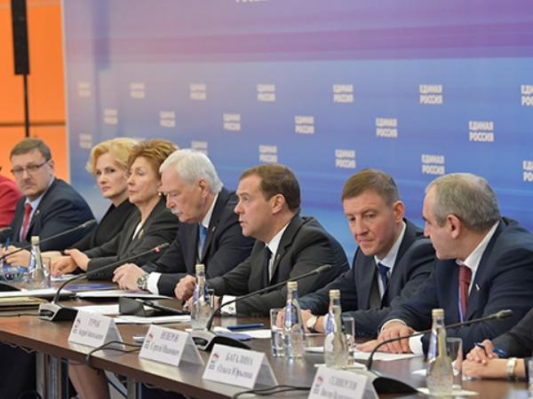 Заканчивается 1-ый день работы Съезда Партии «Единая Россия»
